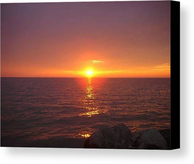 Canvas Print featuring the photograph Sunset by John Gilliland