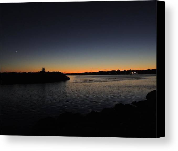 Sunset Canvas Print featuring the photograph Sunset Quonny by Anastasia Konn