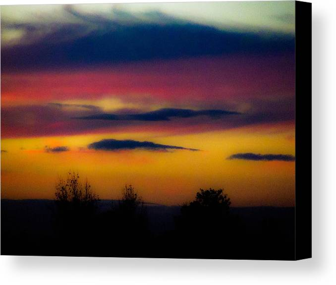 Sunsets Canvas Print featuring the photograph Sunset Serenity by Joe Bledsoe