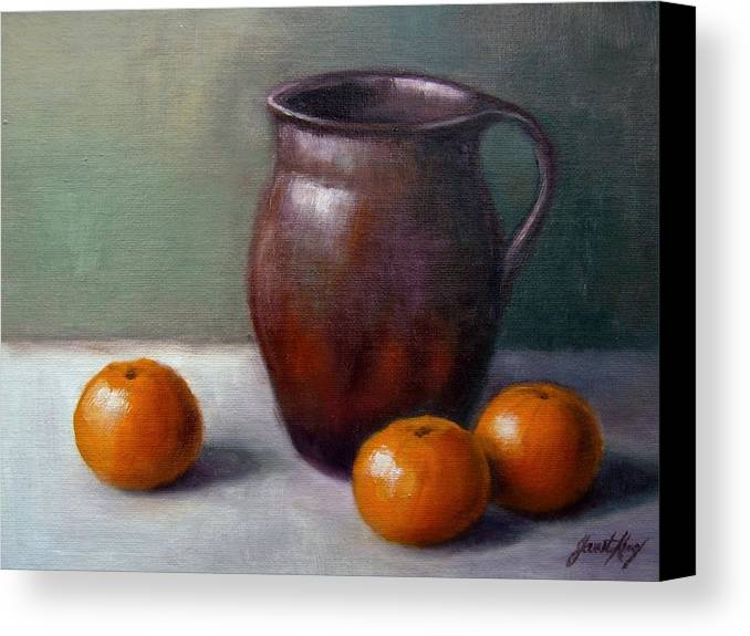 Tangerine Canvas Print featuring the painting Tangerines by Janet King