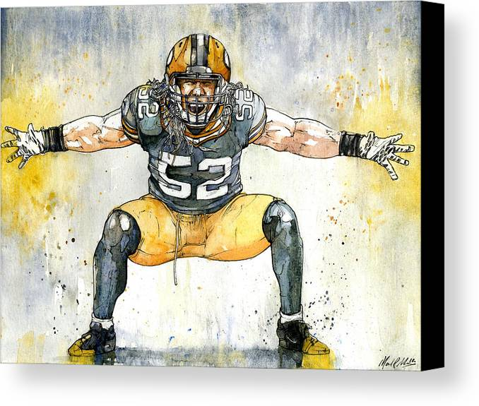 Clay Canvas Print featuring the painting The Beast by Michael Pattison