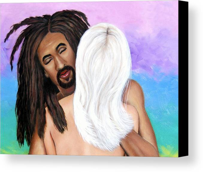 Diversity Canvas Print featuring the painting The Color Of Love II by Donna Proctor