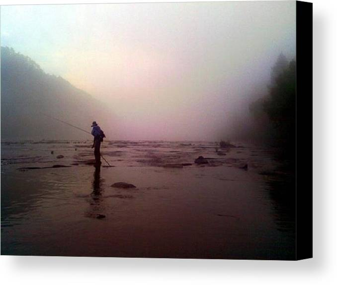 Fishing Canvas Print featuring the photograph The Fisherman by Dwayne Gresham