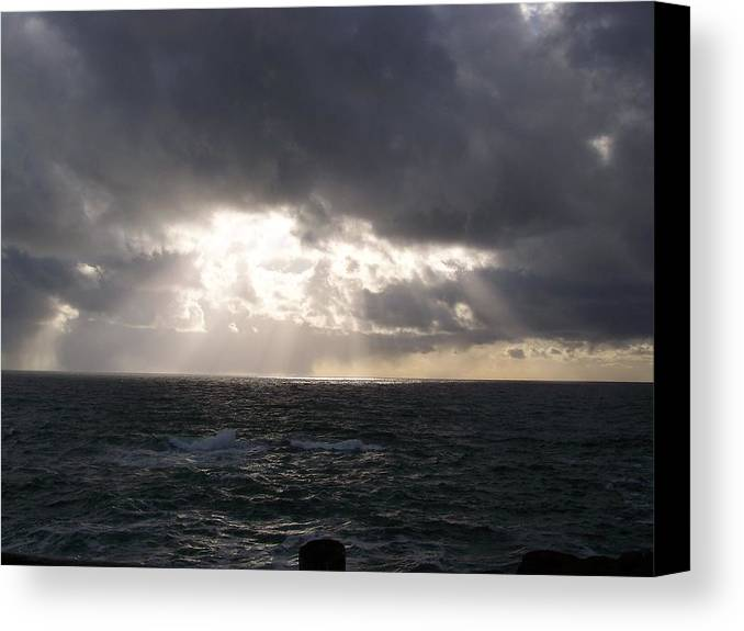 Ocean Canvas Print featuring the photograph The Heaven by Heather L Wright
