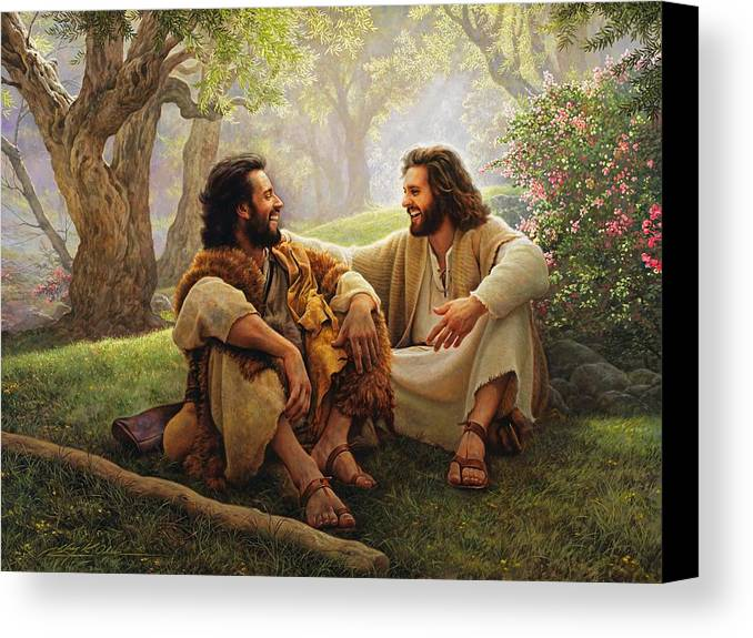 Jesus Canvas Print featuring the painting The Way Of Joy by Greg Olsen