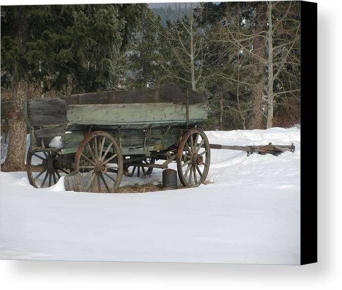 Transportation—plane Canvas Print featuring the photograph This Old Wagon by Steven Parker