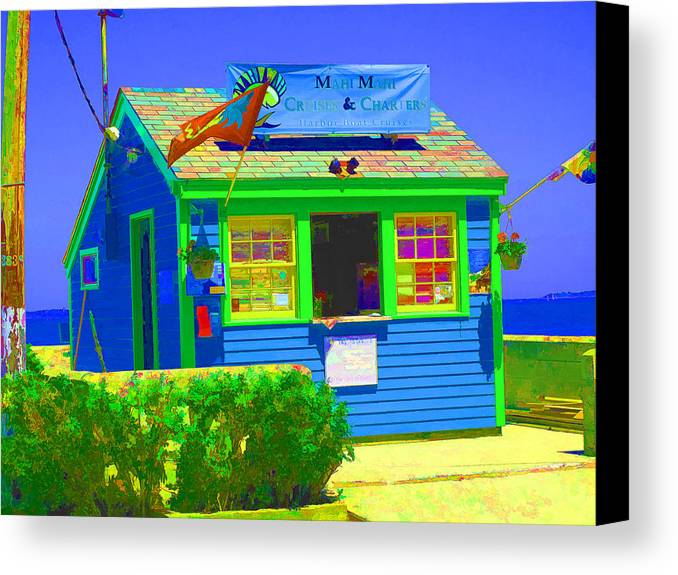salem Willows Canvas Print featuring the photograph Ticket Shack by Barbara McDevitt