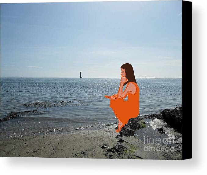 Shore Canvas Print featuring the photograph Tin Whistle 3 by Patrick J Murphy
