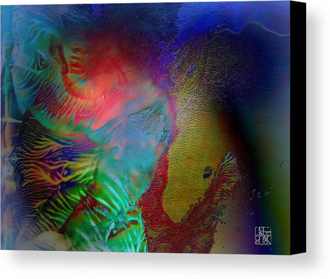Surrealism Canvas Print featuring the digital art Topology Of Decalcomania by Otto Rapp