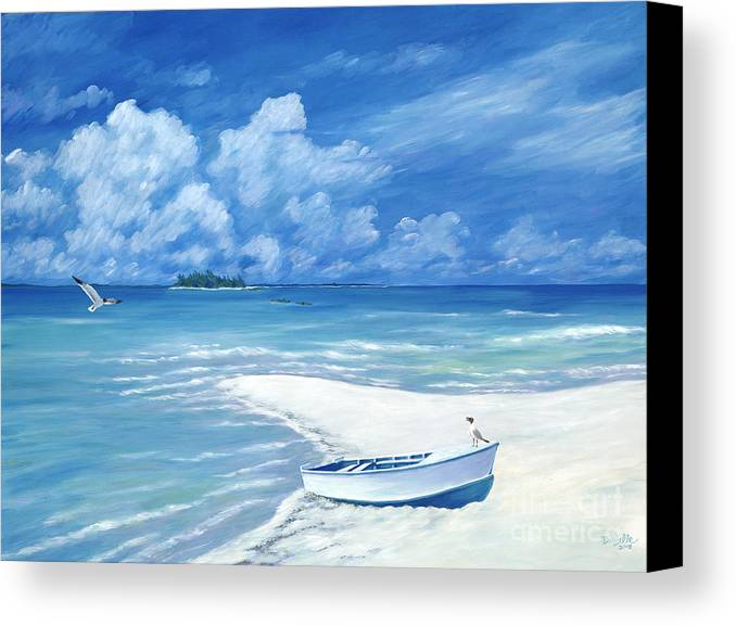 Seascape Canvas Print featuring the painting Treasure Cay by Danielle Perry
