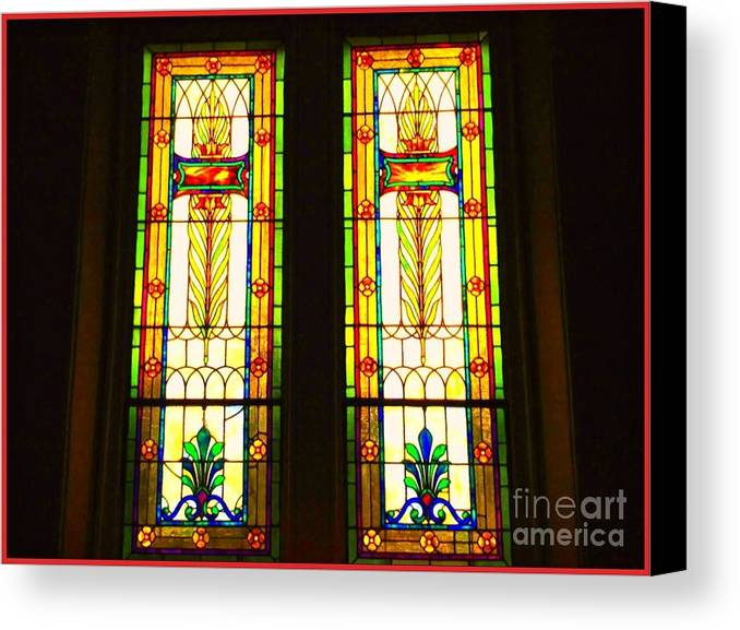 Stained Glass Windows Canvas Print featuring the photograph Two Beauties by Becky Lupe