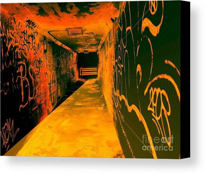 Tunnel Canvas Print featuring the photograph Under The Bridge by Ze DaLuz