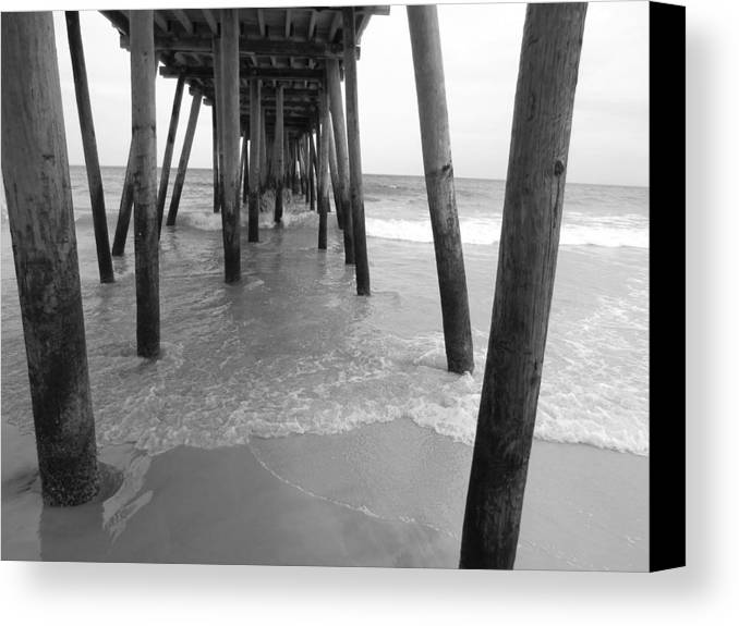Virginia Canvas Print featuring the photograph Under The Pier by Amanda Thorpe