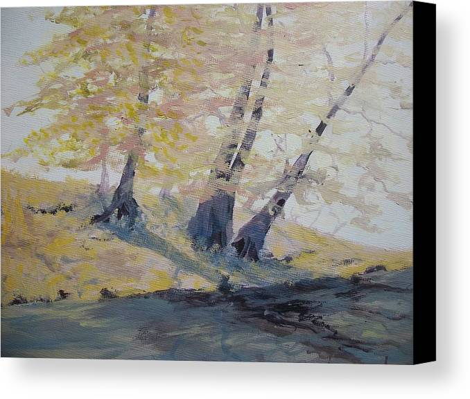 Oil Canvas Print featuring the painting Undercut Bank by Dwayne Gresham