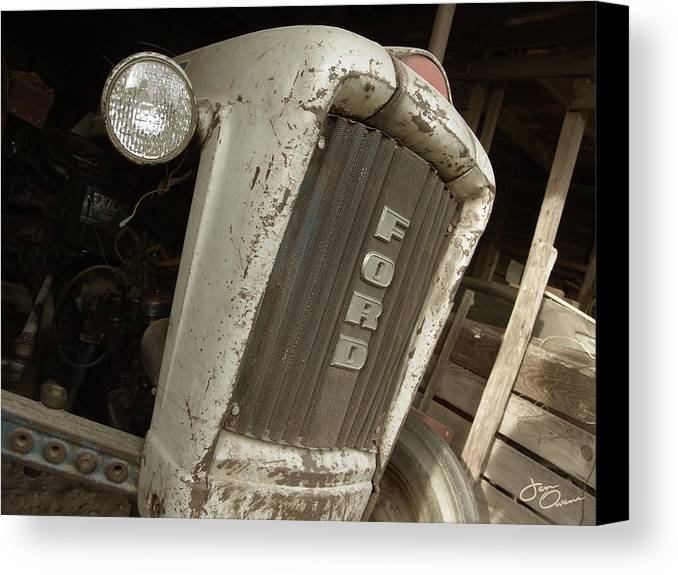Tractor Canvas Print featuring the photograph Vintage Tractor by Jen Owens