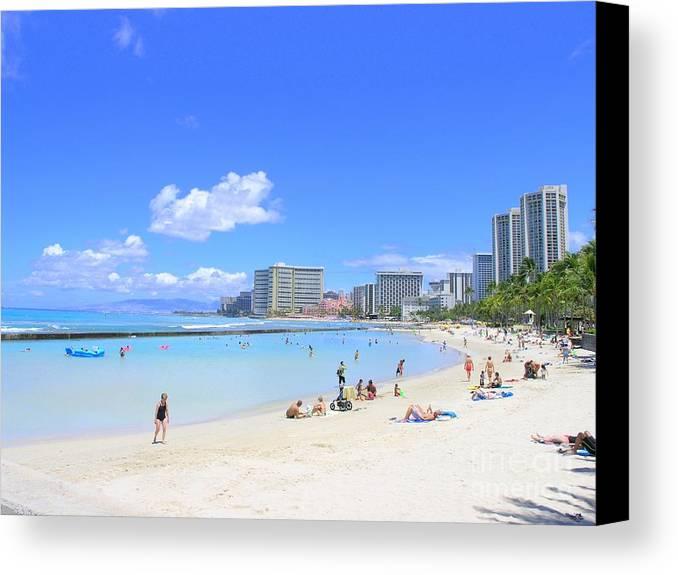 Beach Canvas Print featuring the photograph Waikiki Beach by Mary Deal