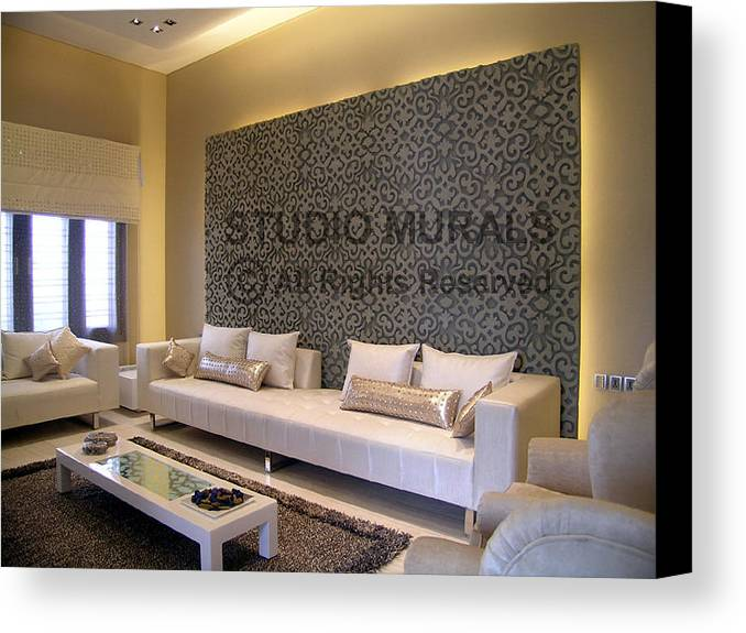 Murals Canvas Print featuring the sculpture Wall Mural by Milind Badve