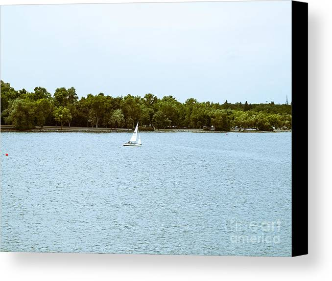 Wind Canvas Print featuring the photograph Wascana -22 by David Fabian