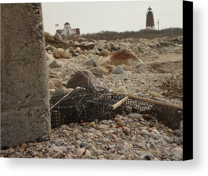 Lighthouse Canvas Print featuring the photograph Washed Ashore by Eric Savage