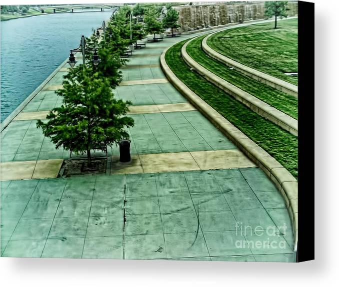 Hyatt Regency Canvas Print featuring the photograph Waterwalk Project by Jeremy Linot