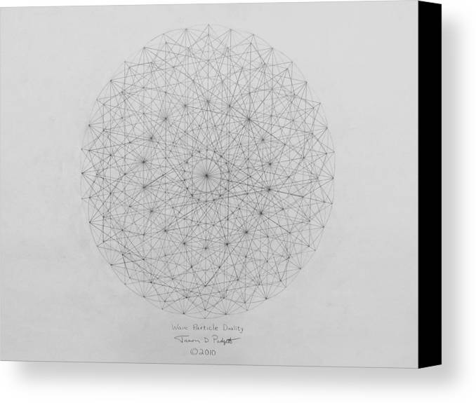 Wave Canvas Print featuring the drawing Wave Particle Duality Original by Jason Padgett
