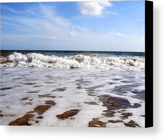 Waves Canvas Print featuring the photograph Waves by Ramona Matei