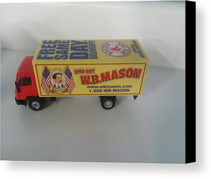 Truck Canvas Print featuring the photograph W.b. Mason Truck by Wendy Hall