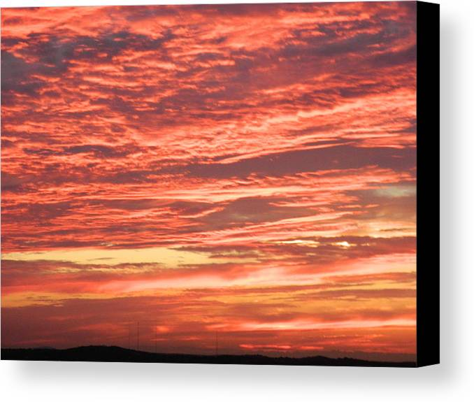 Landscape Canvas Print featuring the photograph Wedding Sunset by Angela Stokes