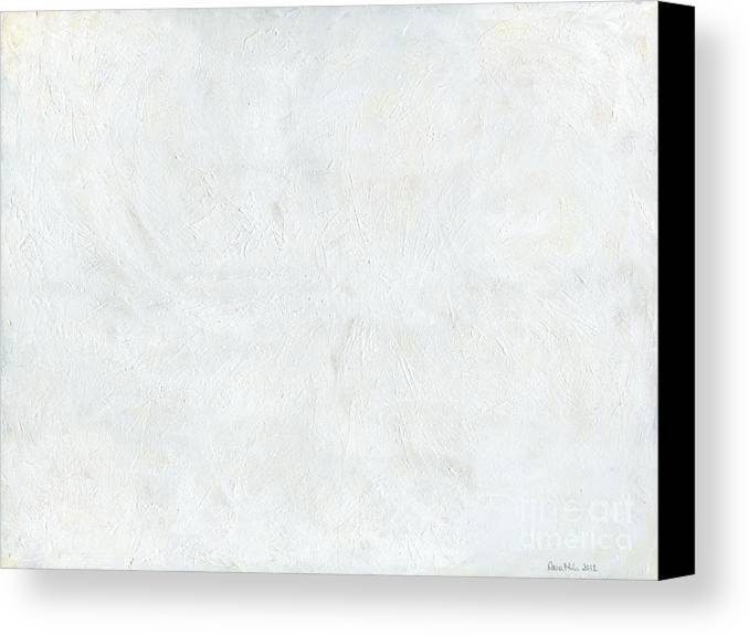 White Canvas Print featuring the painting White Color Of Energy by Ania Milo