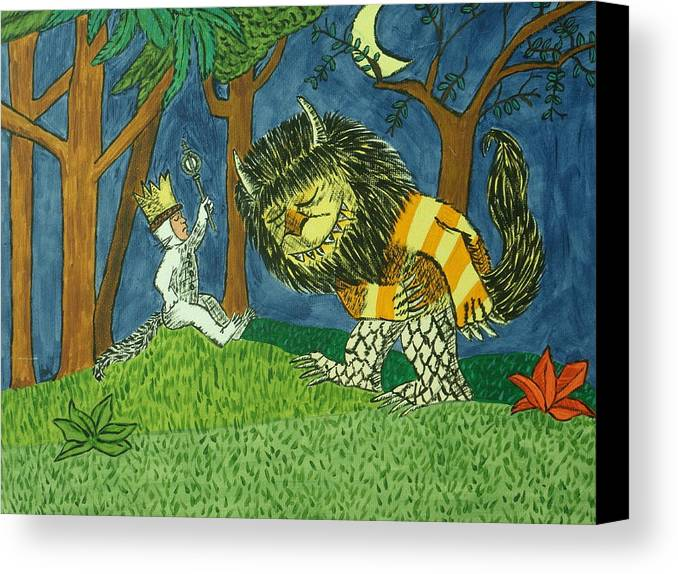Wild Things Painting Canvas Print featuring the painting Wild Things by Tammy Rekito