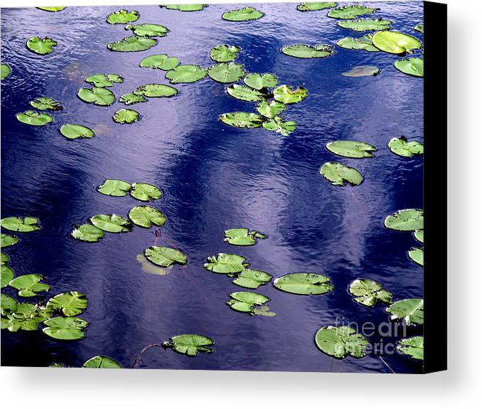 Lake Canvas Print featuring the photograph Wind Whirling The Lake by Jukka Otsamo