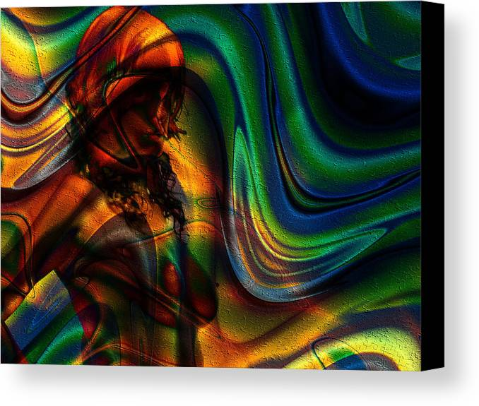 Yesterday Canvas Print featuring the digital art Yesterday by Kiki Art