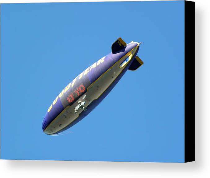 Goodyear Blimp Canvas Print featuring the photograph Yo by John Williams