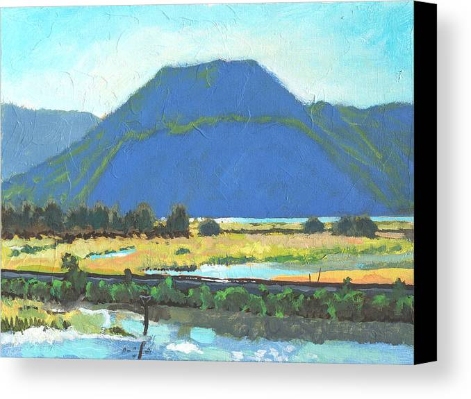 Derr Canvas Print featuring the painting Derr Mountain by Robert Bissett