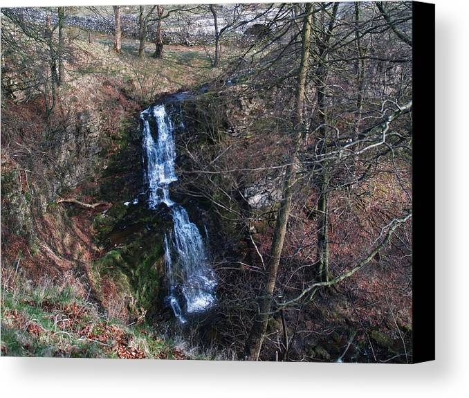 Waterfall Canvas Print featuring the photograph Scaleber Force by Steve Watson