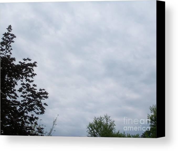 Sky Canvas Print featuring the photograph Sky 18 by Alex Skiba