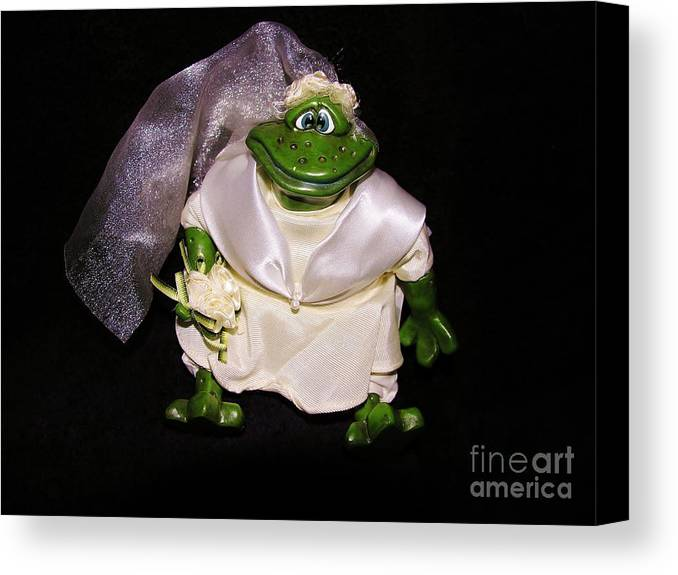 Green Canvas Print featuring the photograph The Green Bride by Sherman Perry