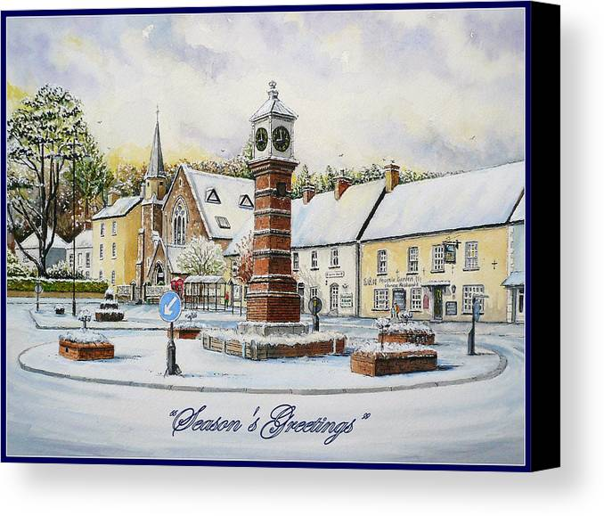 Water Color Paintings Canvas Print featuring the painting Winter In Twyn Square by Andrew Read
