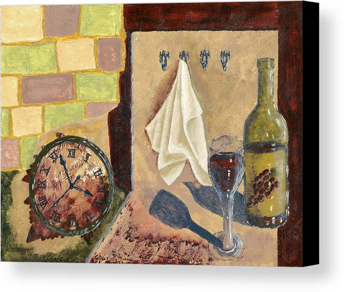 Acrylic Canvas Print featuring the painting Kitchen Collage by Susan Schmitz