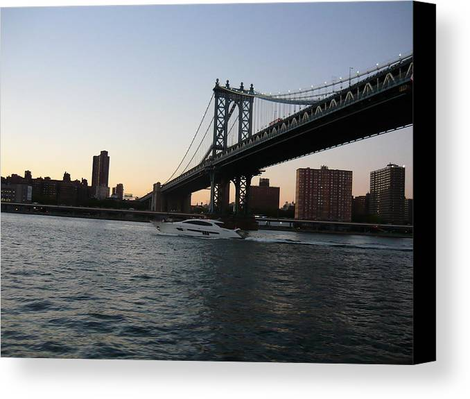New York Canvas Print featuring the photograph New York by Allen Sindlinger