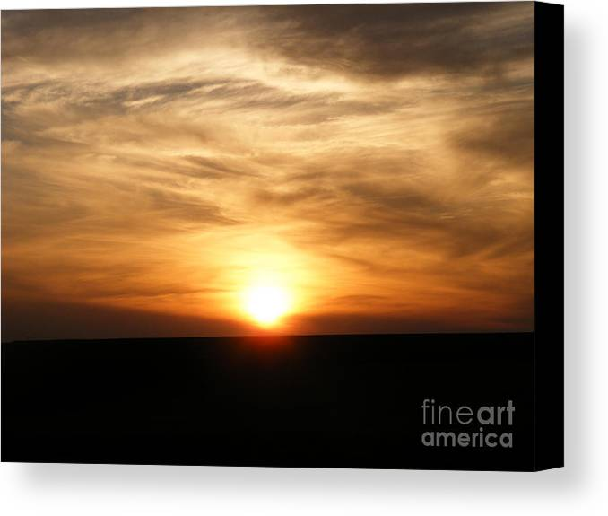 Sunset Canvas Print featuring the photograph Winter Sunset by Helena Marais