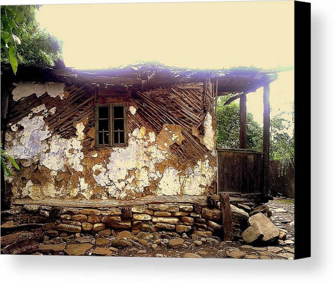 Years Old House Canvas Print featuring the relief 230 Years Old House by Romeo Popescu