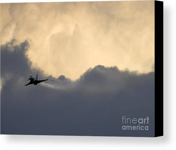 Aircraft Canvas Print featuring the photograph Typhoon by Angel Ciesniarska