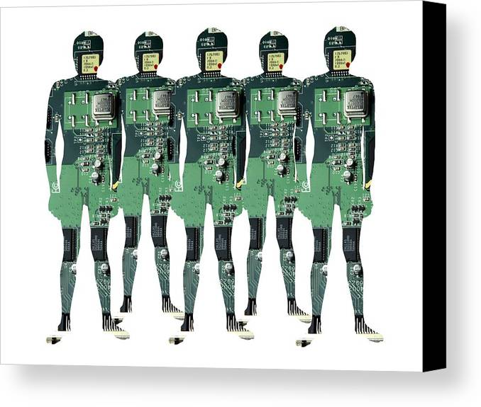 Human Canvas Print featuring the photograph Cybernetics And Robotics by Victor De Schwanberg