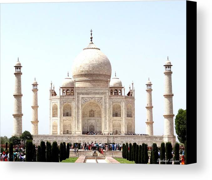 Taj Mahal Canvas Print featuring the photograph Taj Mahal by Sanjeev Sharma