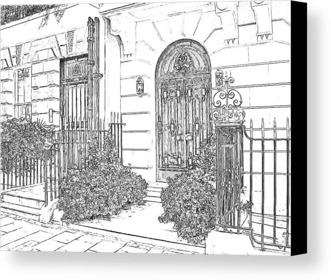 Europe Canvas Print featuring the photograph The Doors Of London by Joseph Hendrix