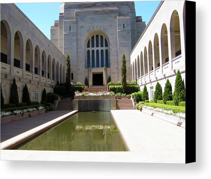 Memorial Photography Canvas Print featuring the photograph A Grand Entrance by Joanne Kocwin