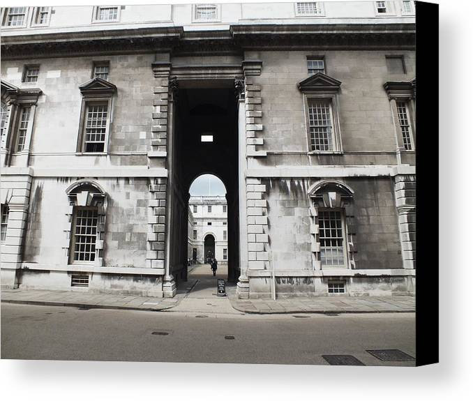Royal Naval College Canvas Print featuring the photograph A View Of The Royal Naval College by Anna Villarreal Garbis