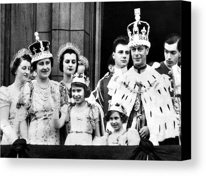 1950s Candids Canvas Print featuring the photograph After Coronation Ceremonies, The Royal by Everett