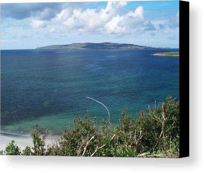 Island Canvas Print featuring the photograph Arainn Mhor From Maghery Bay by Steve Watson